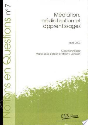 Affiche Médiation, médiatisation et apprentissages