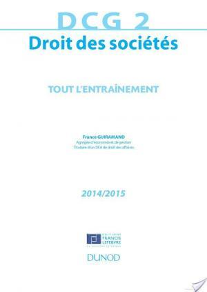 Affiche DCG 2 - Droit des sociétés 2014/2015 - 7e éd