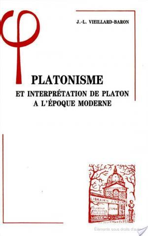 Affiche Platonisme et interprétation de Platon à l'époque moderne