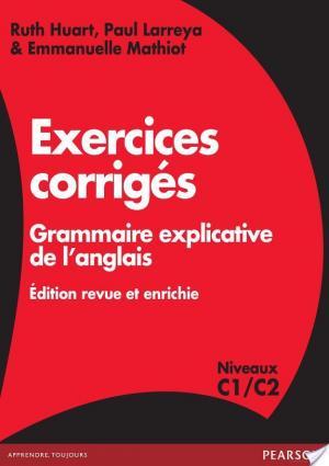 Affiche Exercices corrigés Grammaire explicative de l'anglais