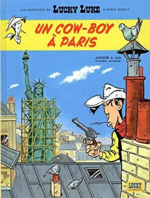 Affiche Aventures de Lucky Luke d'après Morris - tome 8 - Un cow-boy à Paris