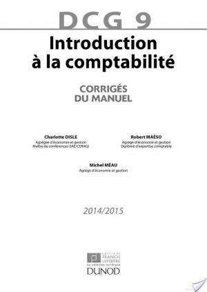 Affiche DCG 9 - Introduction à la comptabilité 2014/2015 - 6e édition