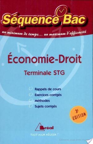Affiche Economie-droit Tle STG