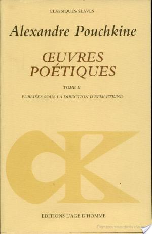 Affiche OEUVRES POETIQUES