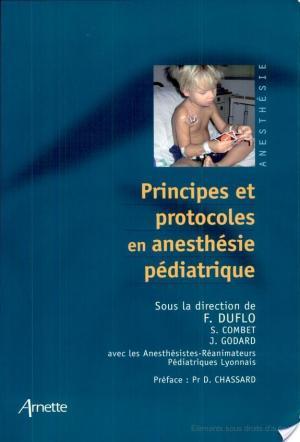 Affiche Principes et protocoles en anesthésie pédiatrique
