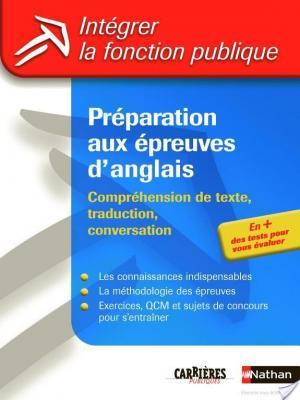 Affiche Préparation aux épreuves d'anglais - Catégories A et B