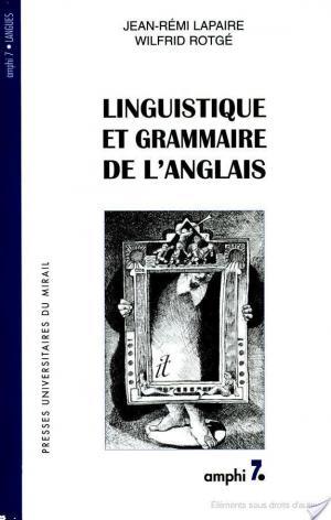 Affiche Linguistique et grammaire de l'anglais