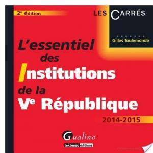 Affiche L'essentiel des institutions de la Ve République 2014-2015