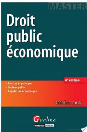 Affiche Droit public économique