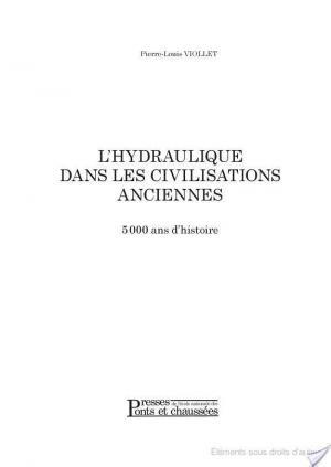 Affiche L'hydraulique dans les civilisations anciennes