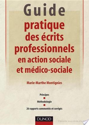 Affiche Guide pratique des écrits professionnels en action sociale et médico-sociale