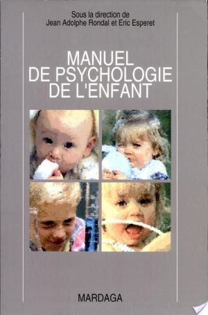 Affiche Manuel de psychologie de l'enfant