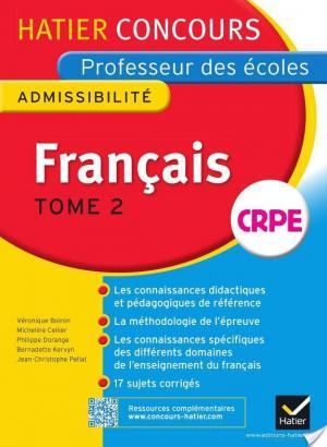 Affiche Concours professeur des écoles 2015 - Français Tome 2 - Epreuve écrite d'admissibilité