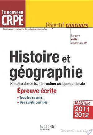 Affiche L'histoire-géographie au nouveau CRPE - Épreuve écrite d'admissibilité
