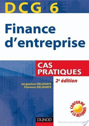 Affiche DCG 6 - Finance d'entreprise - 2e édition - Cas pratiques