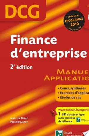 Affiche Finance d'entreprise - DCG - Épreuve 6 - Manuel et Applications