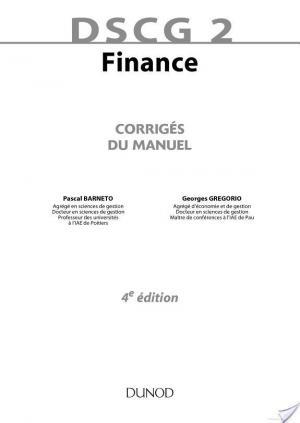 Affiche DSCG 2 - Finance - 4e édition