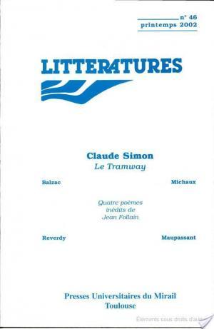 Affiche Claude Simon, Le tramway