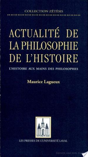 Affiche Actualité de la philosophie de l'histoire