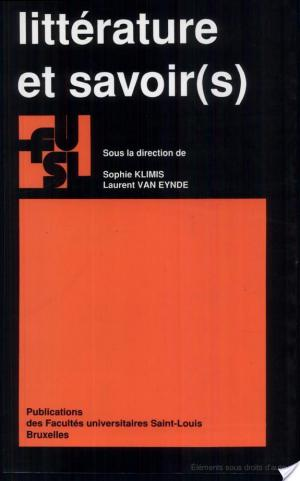 Affiche Littérature et savoir(s)