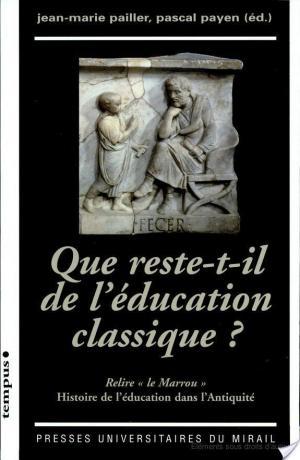 Affiche Que reste-t-il de l'éducation classique?