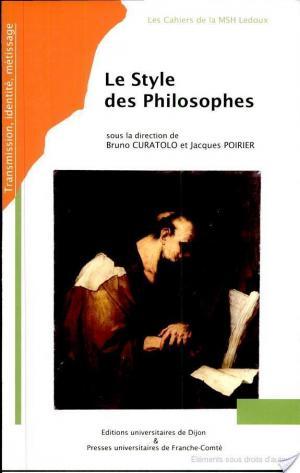 Affiche Le style des philosophes