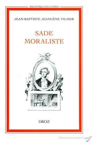Affiche Sade moraliste
