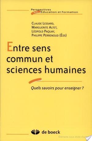 Affiche Entre sens commun et sciences humaines