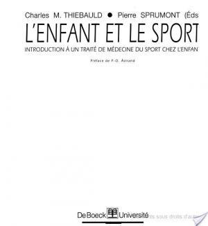 Affiche L'enfant et le sport