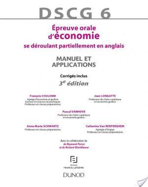 Affiche DSCG 6 - Épreuve orale d'économie - 3e édition