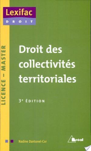 Affiche Droit des collectivités territoriales