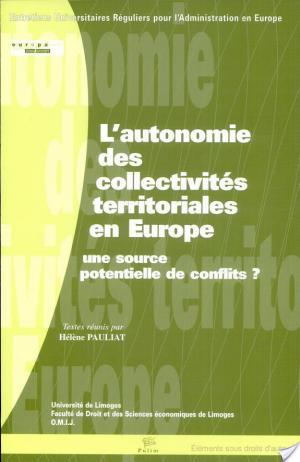 Affiche L'autonomie des collectivités territoriales en Europe
