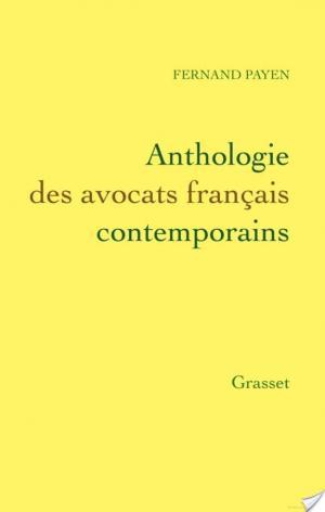 Affiche Anthologie des avocats français contemporains