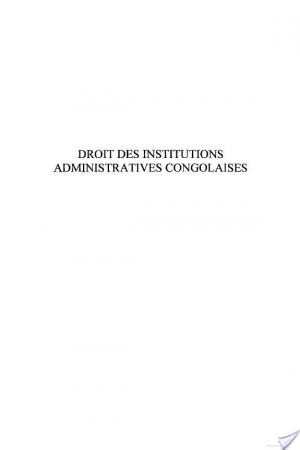 Affiche Droit des institutions administratives congolaises