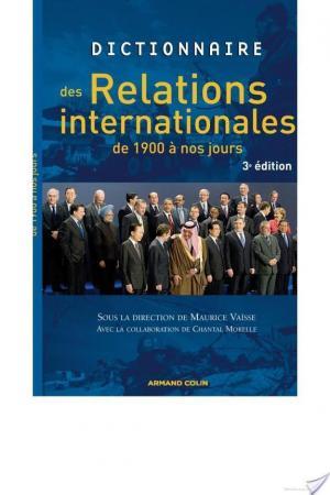 Affiche Dictionnaire des relations internationales de 1900 à nos jours