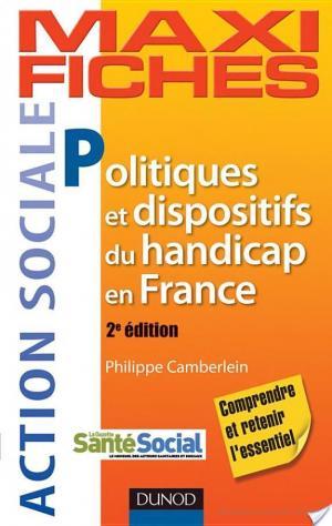 Affiche Maxi Fiches. Politiques et dispositifs du handicap en France - 2e éd
