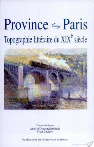 Affiche Province Paris