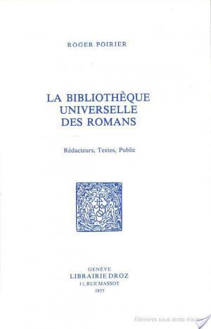 Affiche La Bibliothèque universelle des romans