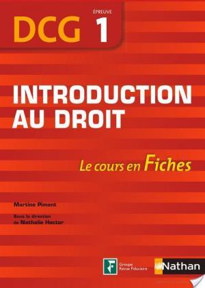 Affiche Introduction au droit - DCG - épreuve 1 - Fiches