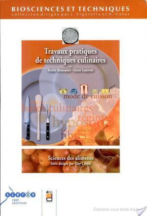 Affiche Travaux pratiques de techniques culinaires