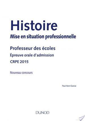 Affiche Histoire Professeur des écoles Oral admission - CRPE 2015