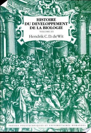 Affiche Histoire du développement de la biologie