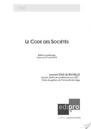 Affiche Le Code des sociétés 2014