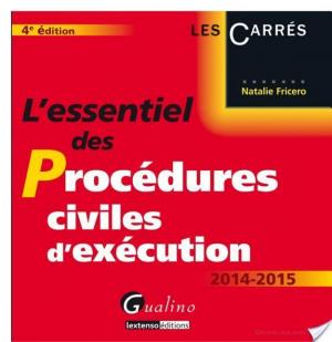 Affiche L'essentiel des procédures civiles d'exécution 2014-2015