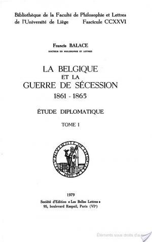 Affiche La Belgique et la guerre de secession 1861-1865