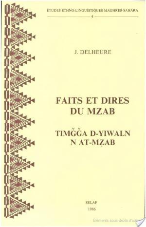 Affiche Faits et dires du Mzab