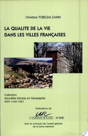 Affiche Qualité de la vie dans les villes françaises (La)