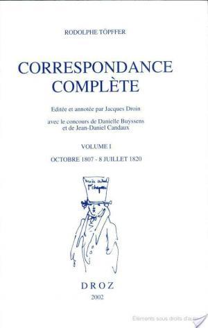 Affiche Correspondance complète: Octobre 1807-8 Juillet 1820