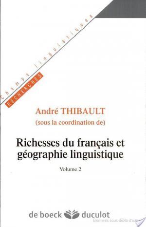 Affiche Richesses du français et géographie linguistique