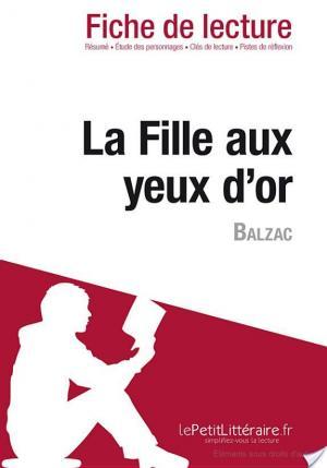 Affiche La Fille aux yeux d'or d'Honoré de Balzac (Fiche de lecture)